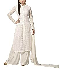 Sara Fashion Women's Georgette Unstitched Dress Material (Off-White)