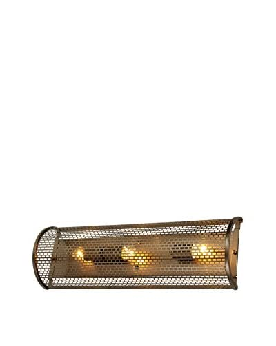 Varaluz Lit Mesh Test 3-Light Wall Fixture, New Bronze