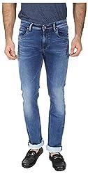 EASIES Men's Slim Fit Jeans (1081 BNDFT SPCIND_38, Blue, 38)