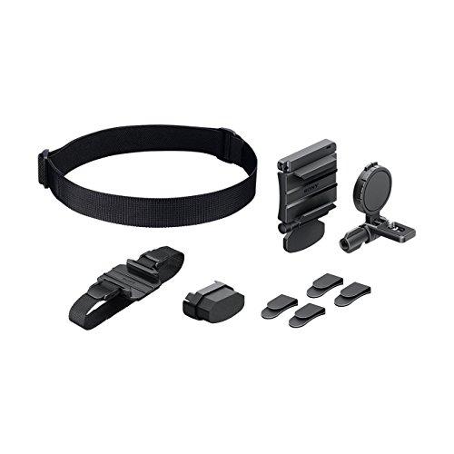 Sony Supporto Fascia Universale Waterproof per Action Cam, Comprende: Una Fascia Corpo, Una Fascia Testa, Uno Supporto Stabilizzatore e 4 Agganci