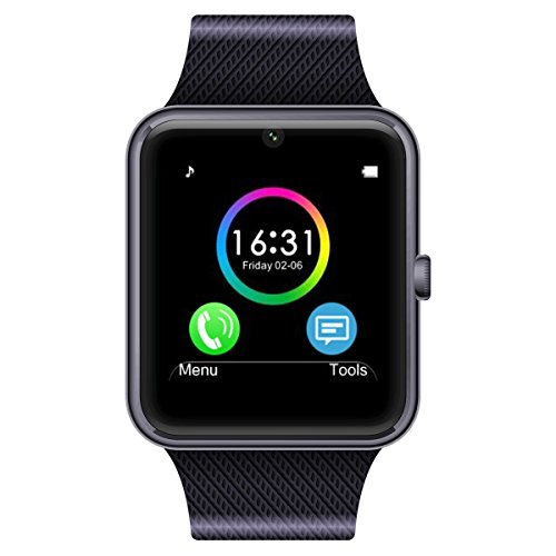 Generic Bluetooth Phone Smart Watch Wrist Phone with NFC Cell Phone Watch(Black)