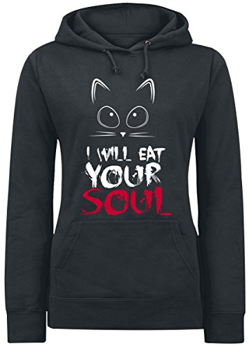 I Will Eat Your Soul Felpa donna nero S