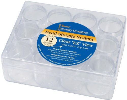 Darice JD Bead Storage System  12 Containers