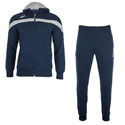 Tuta da uomo tuta da ginnastica ASICS SUIT Comfort t850z55050Marineblau/Navy, marineblau/ marineblau, L