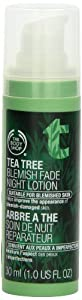 The Body Shop Tea Tree Blemish Fade Night Lotion, 1.0-Fluid Ounce