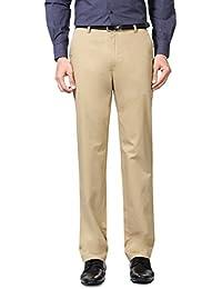 Peter England Khaki Trousers - B01CGMXLT6