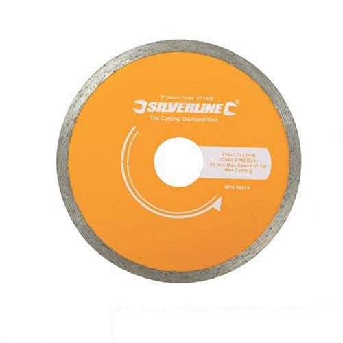 Silverline 571499 110 x 22 mm Tile Cutting Diamond Disc