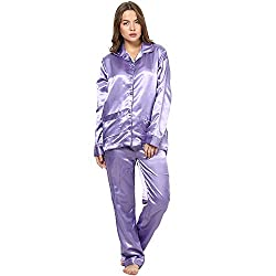 Rose Vanessa Rose Satin Night Suits for Women - Large