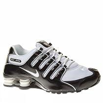 Womens Nike Shox NZ Running Shoes Black / White / White 314561-090 (11)
