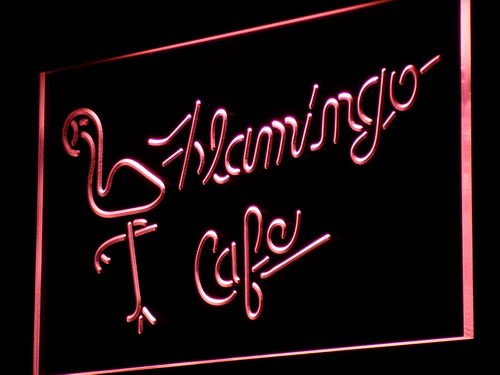 ADV PRO j088r FLAMINGO Cafe Display Bar Beer Neon Light Sign Barlicht Neonlicht Lichtwerbung Picture