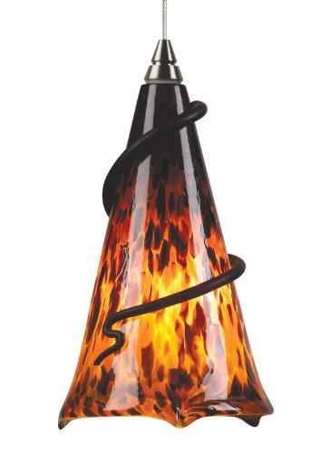 Ovation 1 Light Mini Pendant Bulb Type: Led, Finish: Antique Bronze, Shade Color: Brown