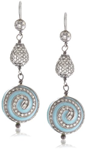 Jordan Alexander Turquoise and Diamond Pinwheel Earrings