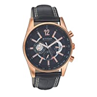 Titan Octane Chronograph Black Dial Men's Watch - 9322WL02
