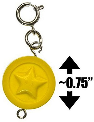 "Star Coin ~0.75"" Mini Figure - New Super Mario Bros Wii Zipper Pull/Charm Series (Japanese Import) - 1"