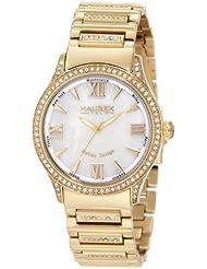 Haurex Italy Women's XY336DWM Preziosa Mother Of Pearl Gold Ip Watch