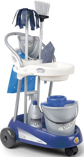 Coloma Cleaning Trolley with 7 Accessories (Blue)