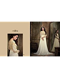 London Beauty Off White Net Floor Length Anarkali Suit