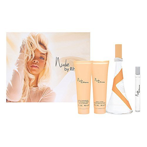 Nude-by-Rihanna-for-Women-4-Piece-Set-Includes-34-oz-Eau-de-Parfum-Spray-30-oz-Body-Lotion-30-oz-Bath-Shower-Gel-034-oz-Eau-de-Parfum-Spray-by-Rihanna