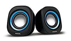 Philips IN-SPA25A/94 Notebook USB Speakers (Blue)