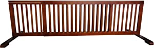 MDOG2 Free Standing Pet Gate, 53-Inch to 103-Inch by 20-Inch by 21.5-Inch, Light Oak
