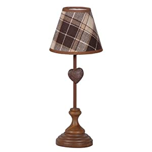 rustic country style wooden 39 heart 39 table lamp lighting. Black Bedroom Furniture Sets. Home Design Ideas