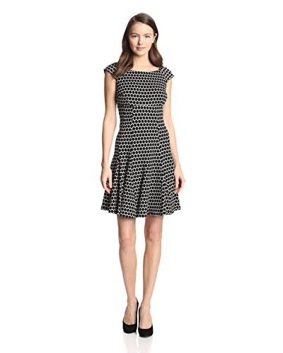 Gabby Skye Women's Cap Sleeve Honeycomb Pattern Dress