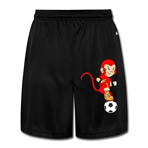 Donny The Red Monkey Play Football Training Running Shorts Pants For Men's Size L Black
