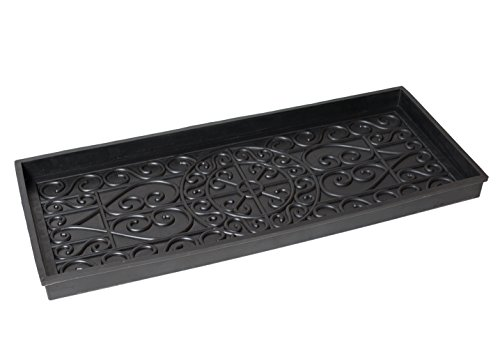 BirdRock Home Rubber Boot Tray | 34 inch Decorative Boot Tray | Waterproof for All Weather Indoor or Outdoor Use