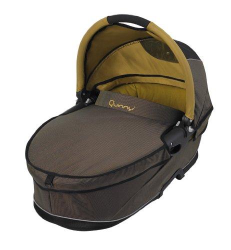 Imagen 4 de Quinny 64803050 Speedi - Capazo para sillas de paseo, incluye colchón, manta, mosquitera y protector para la lluvia, color marrón y ocre