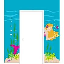 Mermaid Doorhugger Paint by Number Wall Mural