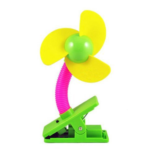 Wowlife Baby Mini USB Power Two Use Stroller Fan, Assorted Color - 1