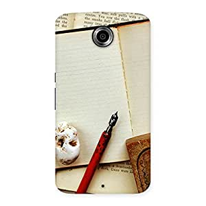 Delighted Little Diary Multicolor Back Case Cover for Nexsus 6