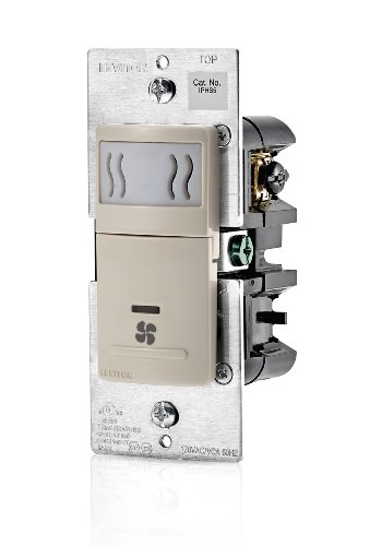 Leviton IPHS5-1LT Humidity Sensor and Fan Control, Single Pole, Light Almond (Motion Light Switch Fan compare prices)