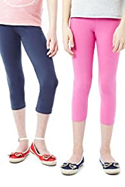 2 Pack Cotton Rich Leggings with Stay New&#8482;