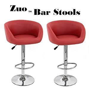 Amazon Com Zuo Synthetic Quot Leather Quot Adjustable Swivel Bar