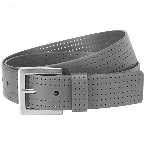 Aquarius Mens Perforated Belts 34 34.0 Grey