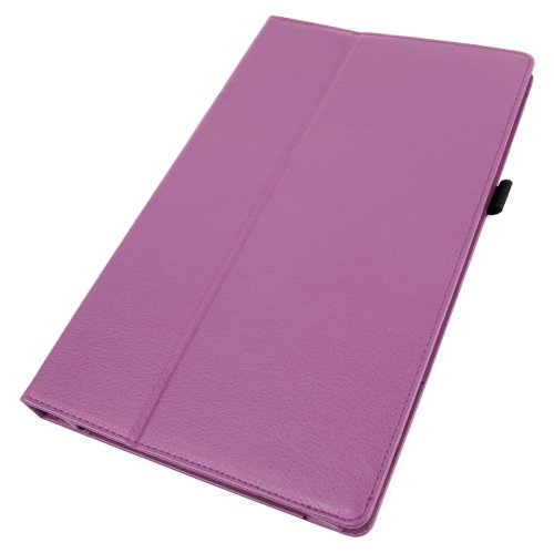 """DURAGADGET Executive Purple PU Leather Case, Custom Designed For The Archos 101 Neon 10.1 """" Tablet - With Built-In Flip Stand & Magnetic Sleep / Wake Function + BONUS Sleek 2-in-1 Purple Stylus Pen! from Electronic-Readers.com"""