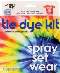 SEI Scrapbooking Tumble Dye Craft And Fabric Dye Kit Primary Red/Yellow/Blue; 2 Items/Order