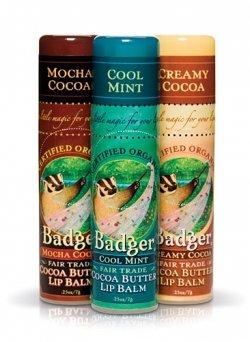 Badger Cocoa Butter Lip Balm - Mocha/Mint/Creamy .25 oz