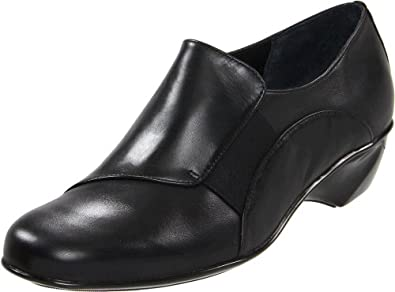 Walking Cradles Women's Tijuana Wedge Pump,Black Leather,5 M US