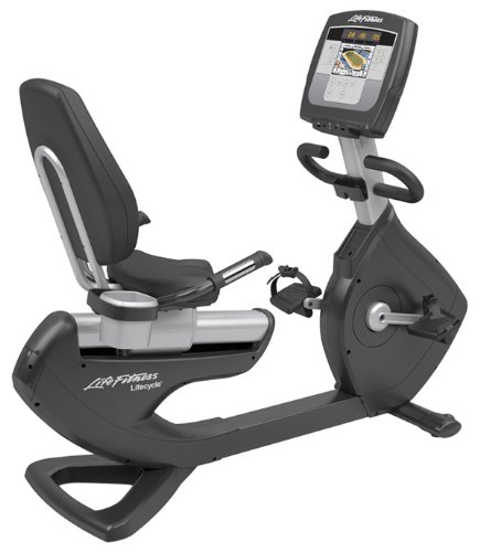 Life Fitness Platinum Series Recumbent Lifecycle Exercise Bike with Inspire LCD Console