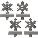 PCC Silver Snowflake Stocking Hanger 4-Pack