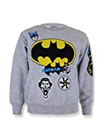 DC Comics Sudadera Batman Badge (Gris Claro)