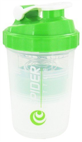 Spider Bottle - SpiderMix Mini2 Go Shaker Bottle Green - Scale: 16oz (Cup: 25oz) (Spider Bottle compare prices)