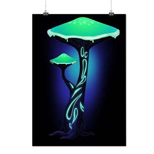 Toxique Champignon Impression La nature Matte/Glacé Affiche A4 (30cm x 21cm) | Wellcoda
