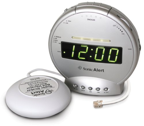 Sonic Alert SBT425ss Alarm Clock with Phone Signal and Vibrator