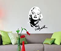 Wall MARILYN MONROE Decal for Any Room AUTOGRAPH STICKER Movie Star DECORATION from MCARTWORK Design Decals