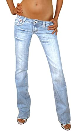BestyledBerlin - Jeans taille basse style low rise jeans pour femme 38/M pantalons taille...