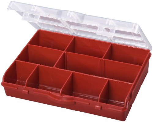 Stack-On SBR-10 10 Compartment Storage Organizer Box with Removable Dividers, Red (Storage Box Compartments compare prices)