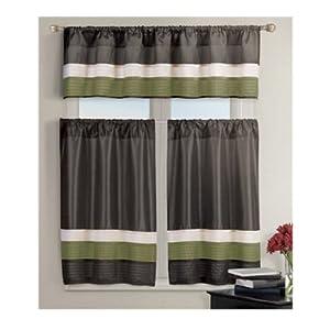Pintucked Kitchen Window Curtain Set 2 Tier